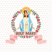 Holy mary religion icon. Vector graphic Stock Illustration