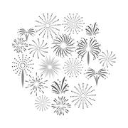 Firework celebration explosion icon. Vector graphic Stock Illustration
