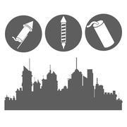 firework celebration explosion icon. Vector graphic - stock illustration