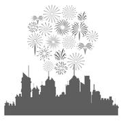 Firework celebration explosion icon. Vector graphic Stock Illustration