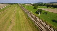 ICE highspeed train railroad track Stock Footage