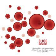 Globules blood donation icon. Vector graphic Stock Illustration