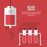 Blood bag tube donation icon. Vector graphic Stock Illustration