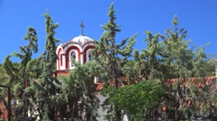 Monastery of St. Arsenios Cappadocian. Chalcidice, Greece Stock Footage