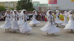 Georgian traditional dance at the International Folklore Festival Stock Footage