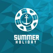Anchor summer holiday vacation icon. Vector graphic Stock Illustration