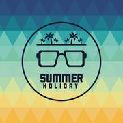 Glasses summer holiday vacation icon. Vector graphic Piirros