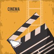clapboard movie film cinema icon. Vector graphic - stock illustration