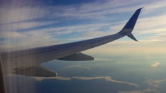 Plane sky clouds horizont Stock Footage