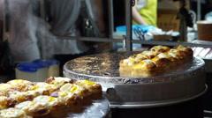 Korean street food, egg bread or Gyeran Bbang Stock Footage