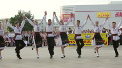 Moldovan traditional dance at the International Folklore Festival Stock Footage