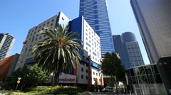 Australia Melbourne Eureka Tower tilt up Stock Footage