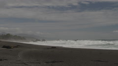 View of beautiful waves on seashore Stock Footage