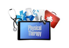 Physical therapy medical technology isolated sign Piirros