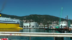 BASTIA - Sardignia ferry docking in the port Stock Footage