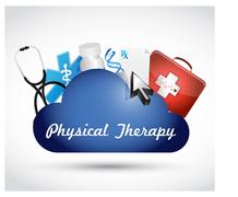 Physical therapy medical cloud isolated sign Piirros