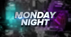Dynamic Monday Night Title Page Background Animation Stock Footage