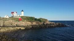 New England Lighthouse (Nubble Lighthouse) Stock Footage