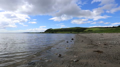 Beach Ettrick Bay Isle of Bute Scotland Stock Footage