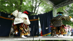 4K Martial Art Japanese Kyudo  Archery Japan festival Munich Germany Europe Stock Footage