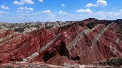 Zhangye danxia landform Stock Footage