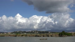 4K Timelapse airplane prepare take off plane taxi on piste on Corfu Island icon Stock Footage
