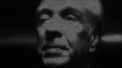 Argentine Writer Borges Face - stock footage