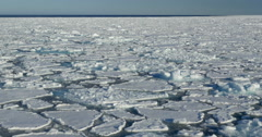 Floating cracking ice in the sea of Spitsbergen Stock Footage