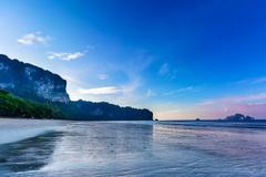 Tropical sunset on the beach. Stock Photos