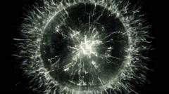 Spherical source of energy - stock footage