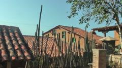 House in traditional rural village in Margarita Island, Venezuela Stock Footage