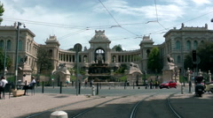 MARSEILLE - Palais du Lonchamps, shot from the street Stock Footage
