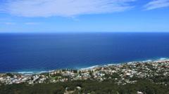 Australia Illawarra Escarpment looking toward Wollongong pan Stock Footage