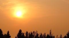 Golden hot sunset pan Stock Footage