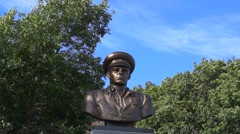 Monument to legendary VDV commander Margelov Stock Footage