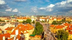 Prague. The Charles Bridge (Karluv most) Stock Footage