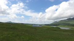 View to lake or river at connemara in ireland  30 Stock Footage