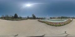 4K 360VR video, Spain Aranjuez architecture Royal Palace and garden. Stock Footage