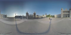 4K 360VR video, Spain Madrid architecture landmark Royal Palace. Stock Footage