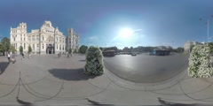 4K 360VR video, Spain Madrid architecture landmarks Plaza de Cibeles. Stock Footage