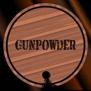 Gunpowder Keg With Powder Trail Stock Illustration