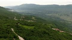 Bjelopavlici plain is a strip of fertile lowland in Montenegro Stock Footage