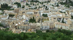 Panoramic view of Granada city in andalusia Spain with famouse albaicin district Stock Footage