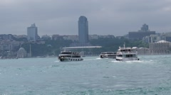 Passenger boat in the Bosporus Stock Footage