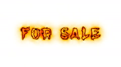 Fire for sale text. Burning sale sign stock animation Stock Footage