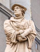 Monument of the reformer Martin Luther in front of Marble church  Copenhagen Stock Photos
