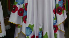 Ukrainian girl in traditional costume at the International Folklore Festival Stock Footage