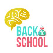 Back to school poster with human brain Piirros