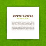 Summer Camp Paper Template Stock Illustration