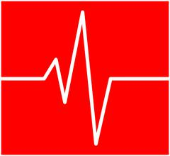 Heart rhythm, ecg line vector symbol icon design. Beautiful illustration isol Stock Illustration